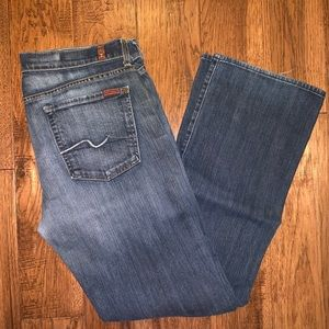 7 For All Mankind medium wash jeans